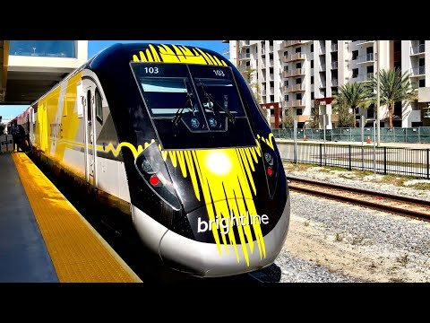 Traveling On Florida's New High Speed Train, Bright Line!