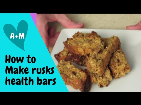 How to make delicious rusks/healthbars