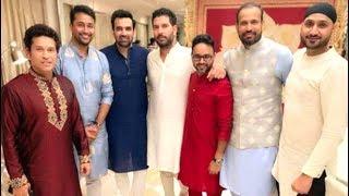 Indian Cricketers Sachin,Yuvraj.Harbhajan,Hardik At Neeta Ambani Ganesh Chaturathi 2019 Celebration
