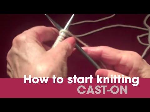 Basic Cast On (how to start knitting)