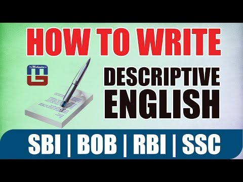 HOW TO WRITE DESCRIPTIVE ENGLISH | A COMPLETE DESCRIPTIVE CLASS | SBI | SSC | RBI | BOB