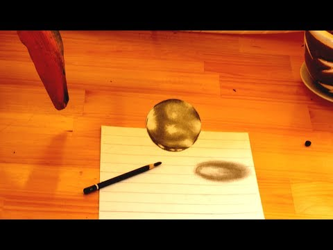 Draw a Flying Marbles - 3D illusion art on paper