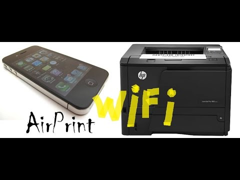 Airprint -  (impression iphone ipad / Hp LaserJet 400 )