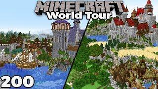 WORLD TOUR & DOWNLOAD : MINECRAFT 1.14 Survival Let's Play ft. Pixlriffs #200