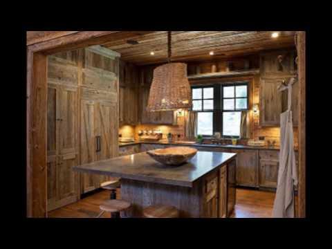 barnwood kitchen cabinet