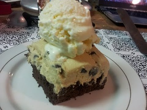 How To Make Brownies With Cookie Dough Frosting And Vanilla Ice Cream