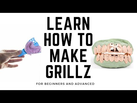 How to make custom gold grillz- Learn how to make grillz (2018)