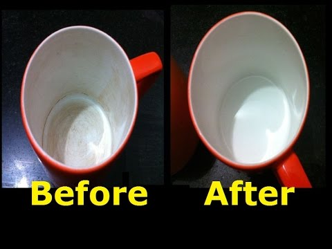 Clean Tea Coffee Stains From Mug   Remove Tough Stains From Cups