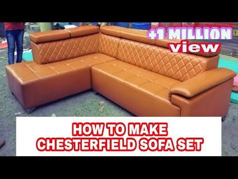 How to make sofa set corner chester design in back