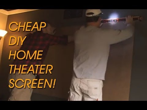 How to Build a Super Cheap & Good DIY Projector Screen for Home Theater