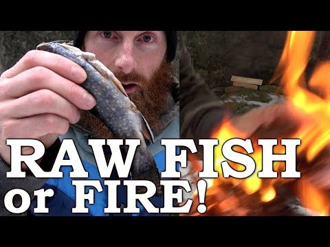 Raw FISH or FIRE!!! | HAND DRILL Friction Fire SURVIVAL CHALLENGE | Complete Step-by-Step Guide