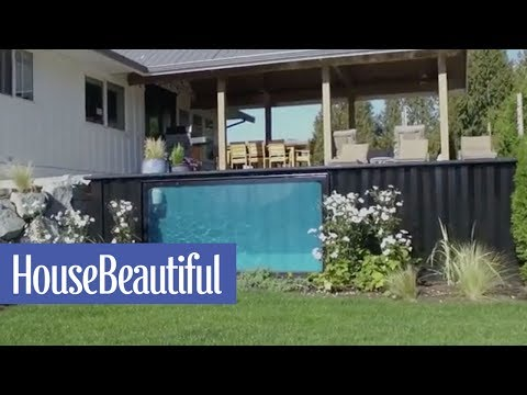 These Incredible Heated Pools Are Made From Shipping Containers | House Beautiful