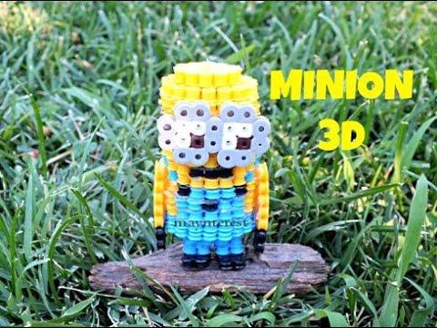 MINION 3D de hama beads (perler beads)