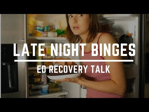 Late Night Binges. Overeating At Dinner Time // The Diet Mindset