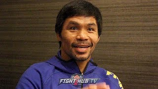 """MANNY PACQUIAO """"AMAZING I SURVIVED THAT MARGARITO FIGHT! NIGHT OF THE FIGHT I WAS 148LBS!"""