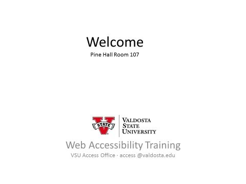 Educate Yourself: Web Accessibility