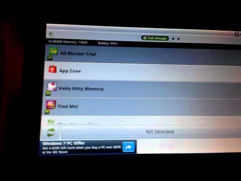 Nabi Tablet task manager