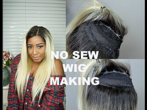 NO SEW IN  DETAILED WIG MAKING \\ NO NEEDLE AND THREAD    1B\613 Ft WEST KISS HAIR