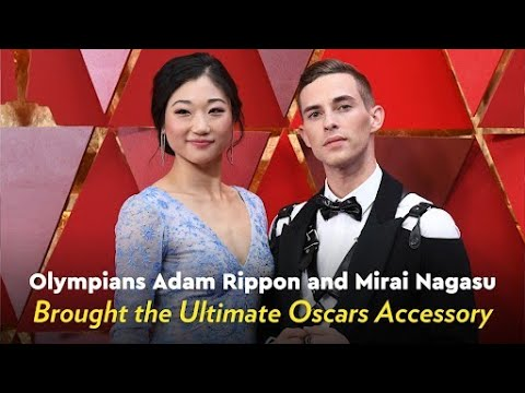 Olympians Adam Rippon and Mirai Nagasu Brought the Ultimate Oscars Accessory