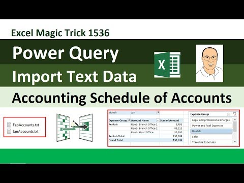 EMT 1536: Power Query to Import Text Data for Accounting Schedule of Accounts