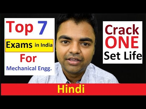 Top 7 Toughest Entrance | Jobs Examinations for Fresher Mechanical Engineers in India (Hindi)