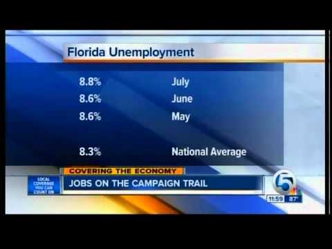 Florida unemployment rate climbs