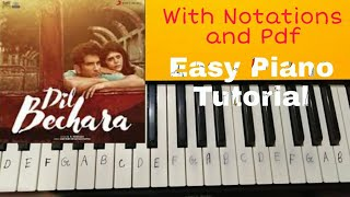 The Horizon of Saudade   Dil Bechara   Piano Tutorial   By Aashna Jain