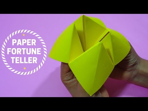 How To Make Paper Fortune Teller - Step by Step Origami Tutorial
