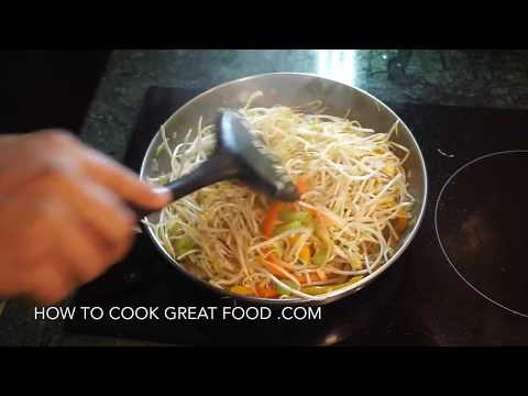 How to Cook Bean Sprouts - Braised Sprouts Recipe - Vegan Healthy Easy