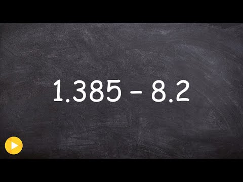 Learn how to subtract a larger decimal from a smaller decimal