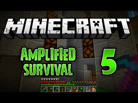Minecraft Vanilla Amplified Survival - 5 - Vanilla Storage Barrels / Storage Silos