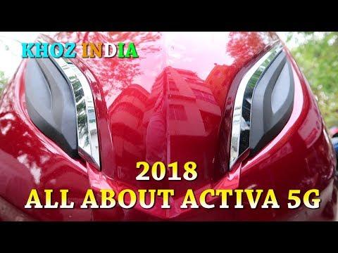 NEW 2018 HONDA ACTIVA 5G FULL WALK AROUND PRICE FEATURES