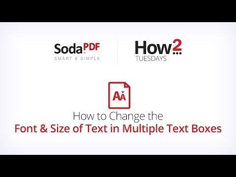 How to Change the Font & Size of Text in Multiple Text Boxes