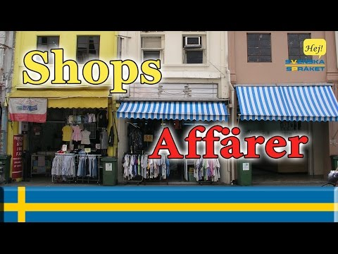 Learn Languages- learn swedish - Shops - Affärer