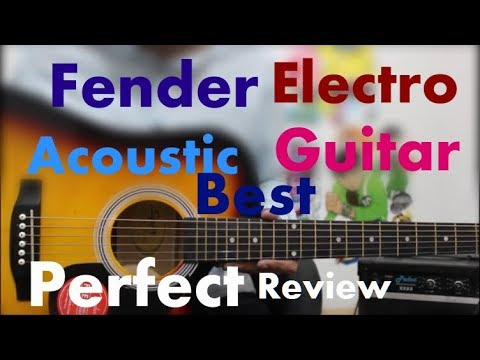 Fender SA-105ce Electro Acoustic - Perfect/Best Guitar 4 Everyone At Rs. 9299 - Hindi Review Guitars