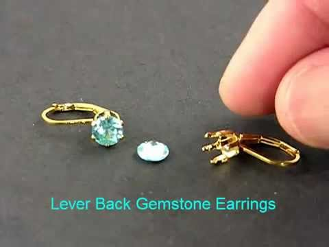 Jewelry Making with Snap Fit Findings - Lever Back Earrings
