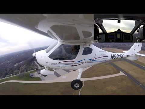 Sport pilot flying into class D and class C