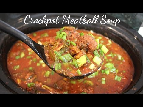 Slow Cooker Meatball Soup: Crockpot Meatballs Dinner Recipe