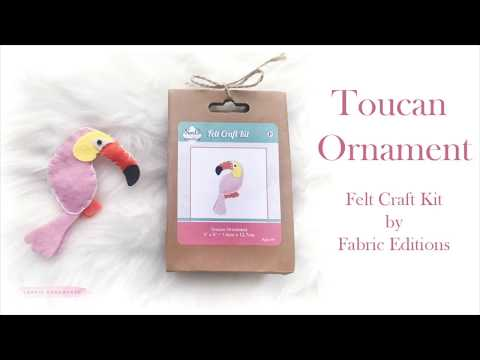 Toucan Ornament by Fabric Editions