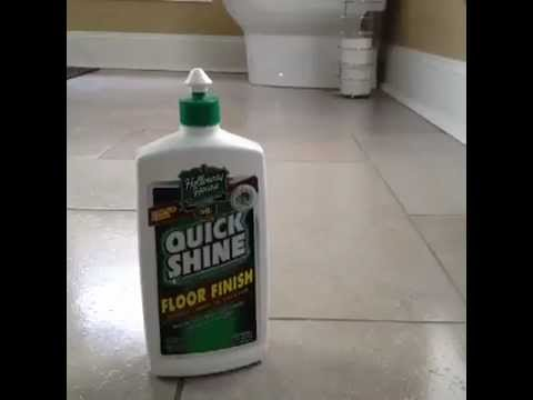 How to Use Quick Shine on Tile Floors