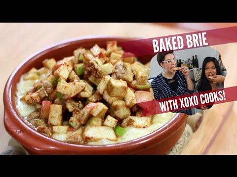 Baked Brie with Apples Ft. XOXO COOKS   Cook n' Chat   Just Eat Life