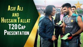 Asif Ali and Hussain Tallat T20I Cap Presentation Ceremony | PCB