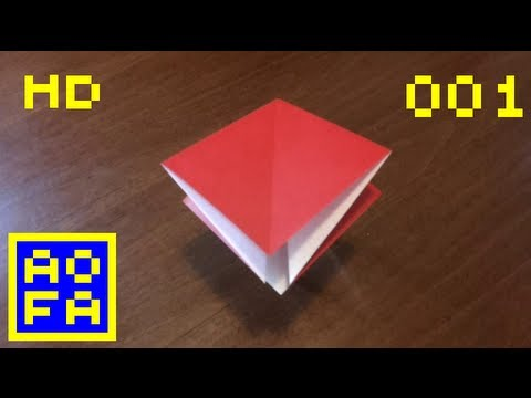 Origami preliminary base - How to make an origami preliminary base ...for all (01) (HD)