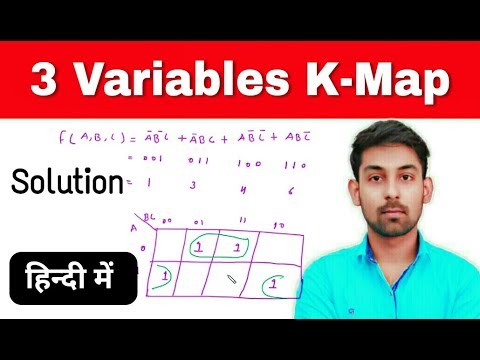 3 Variables K-Map ( SOP ) In Hindi | Simplify Boolean Expression Using K-Map