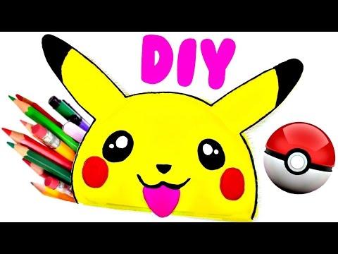 DIY SCHOOL SUPPLIES for Back to School | Easy & Cute PIKACHU PENCIL CASE