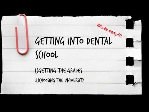 Getting into dental school Tips!!!