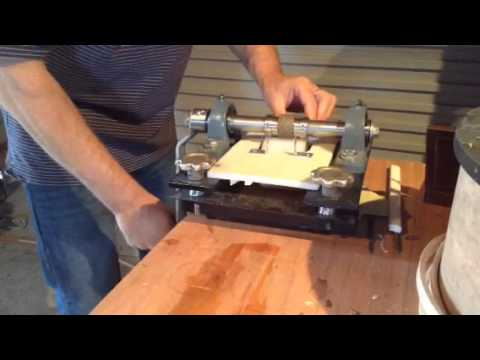Homemade leather embossing machine
