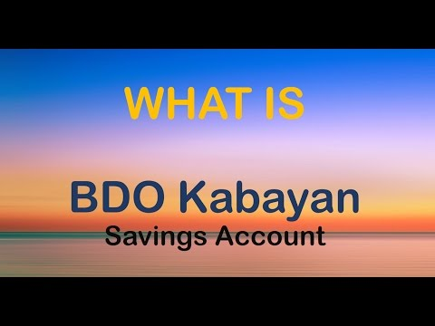 What is BDO Kabayan Savings Account