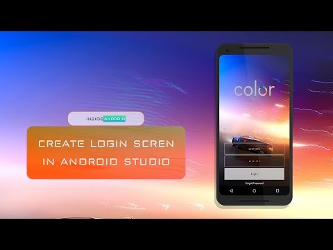 Login Form in Android Studio Create colourful login form in android