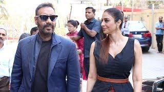 Ajay Devgan's MACHO ENTRY With Tabu At De De Pyaar De Trailer Launch